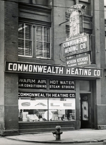 Commonwealth Heating and Remodeling Store Front 1950