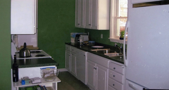 new kitchen counters, floors, cabinets remodeling